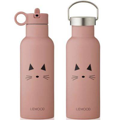 Thermos Gourde isotherme Neo Chat rose (500 ml)
