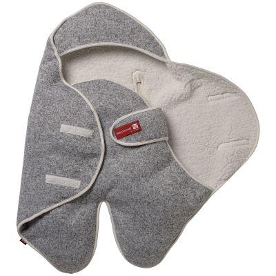 Babynomade Douillet en polaire gris chiné (68 x 37,5 cm)