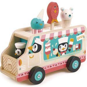 Chariot de crème glacée pingouins - Publicité