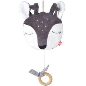Faon musical à suspendre en coton bio gris (23 cm) - Publicité
