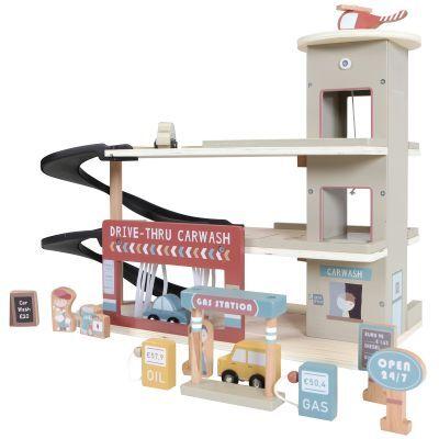 Garage en bois + figurines