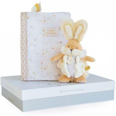 Coffret cadeau naissance blanc Lapin de sucre