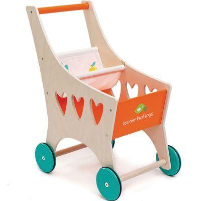 Chariot de courses en bois