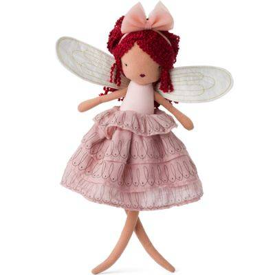 Poupée souple fée Céleste avec robe rose (35 cm)