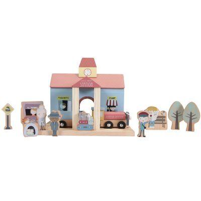 Gare en bois + figurines pour circuit
