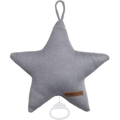 Sparkle Peluche musicale Sparkle étoile gris (30 cm)