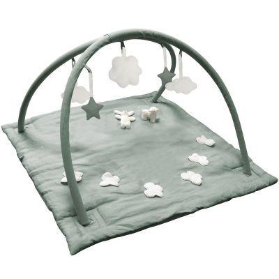 Tapis d'éveil musical avec arches vert céladon (90 cm)