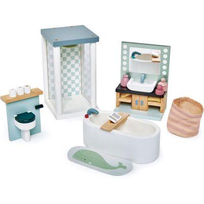 Mobilier pour poupée Salle de bain en bois