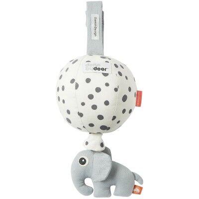 Jouet d'éveil musical à suspendre Ballon pois gris