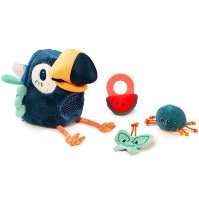 Peluche d'activités Pablo le toucan pique-assiette