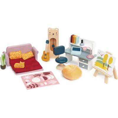 Mobilier pour poupée Salle d'étude en bois