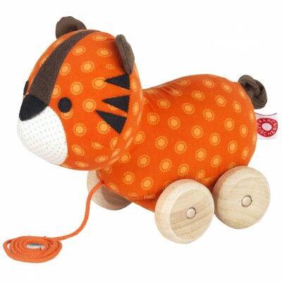Jouet à tirer en coton bio Thomas le tigre