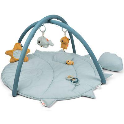 Tapis d'éveil avec arches bleu Sea friends