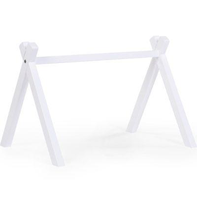 Arche d'activités Play Gym tipi en bois de hêtre blanc