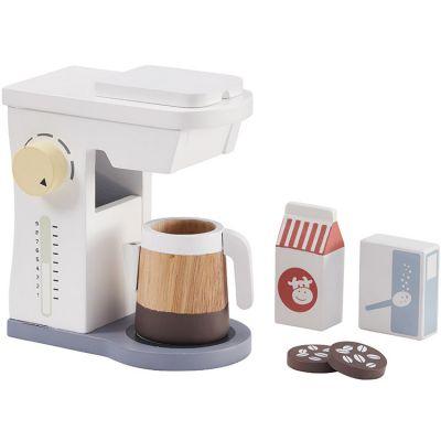 Cafetière et accessoires en bois