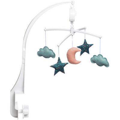 Mobile musical lune étoiles folk (mélodie au choix)