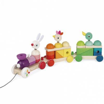 Train géant multicolore zigolos