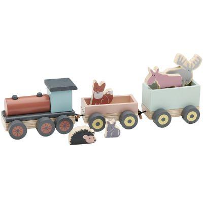 Train de construction en bois Edvin