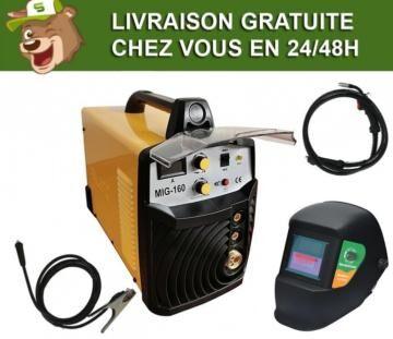 Silex France ® Pack poste à souder MIG MAG 160A Silex ® + masque de soudure 101KNO