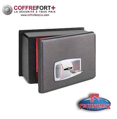 TECHNOMAX Coffre fort de sécurité pour voiture Serrure à clé TECHNOMAX CS-0