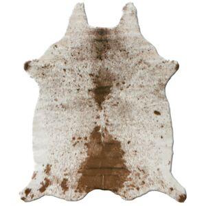 Tapis peau de bête - Imitation vache tachetée claire - Marron et blanc - 140 x 170 cm