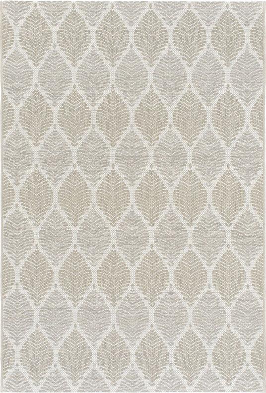 Tapis Essenza - Nature urbaine - Feuilles beige ton sur ton - 200 x 290 cm