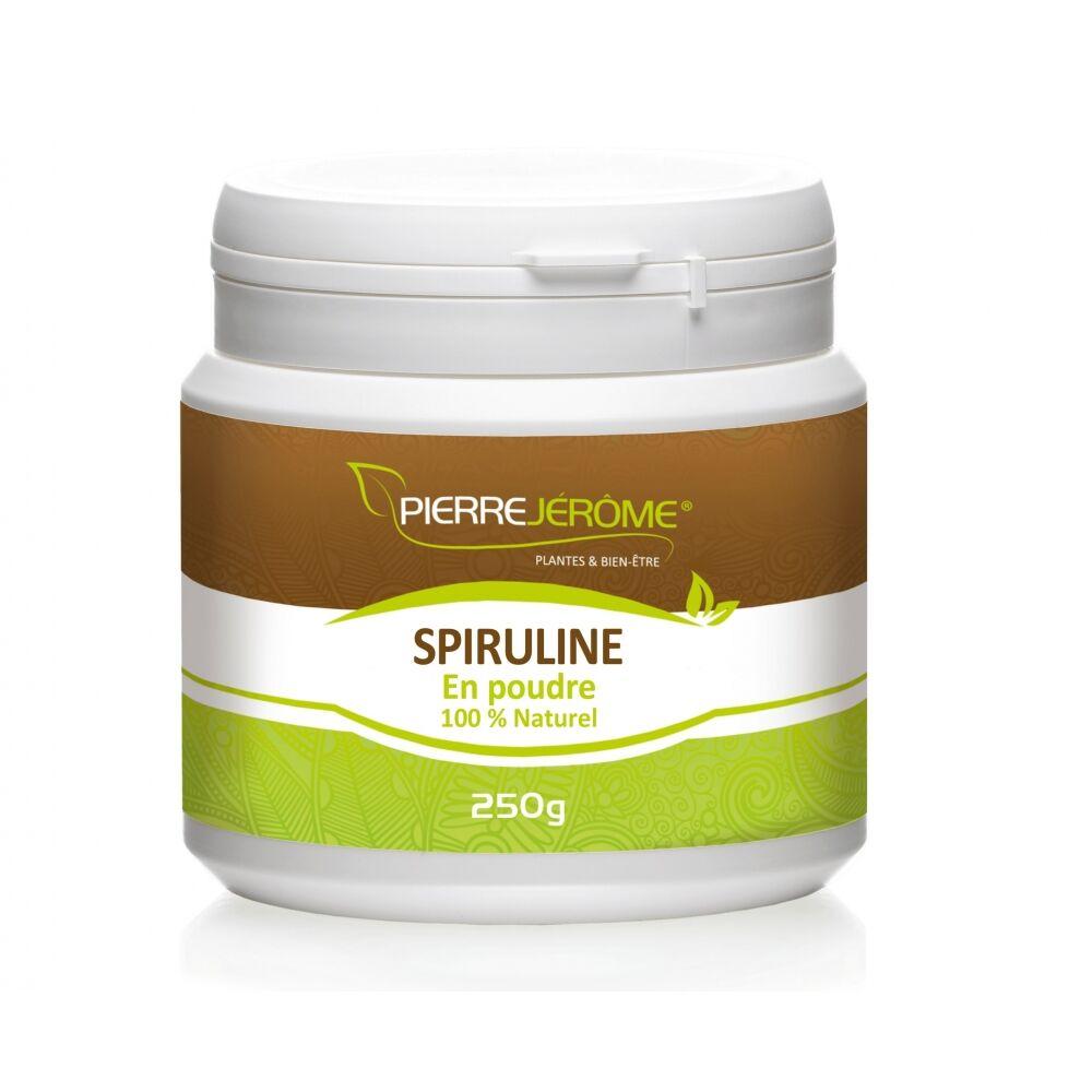 Pierre Jérôme Spiruline en pot en poudre PEHD inviolable de 250 grammes lot de 24