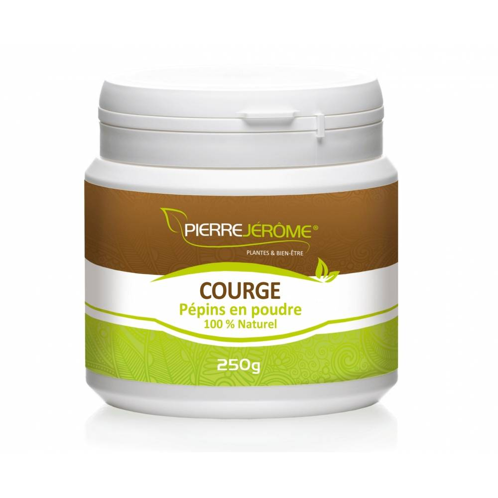 Pierre Jérôme Courge pépins en poudre en pot PEHD inviolable de 250 grammes lot de 4