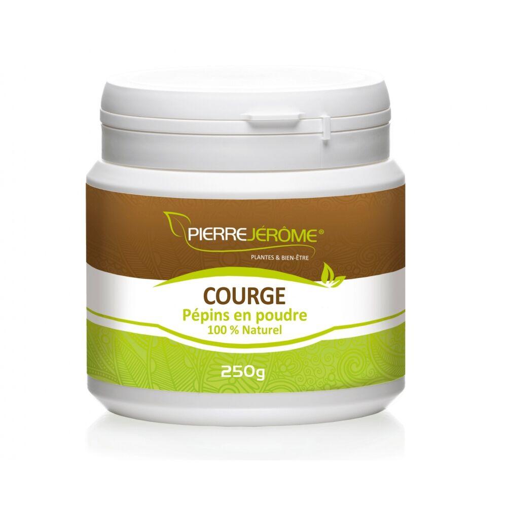 Pierre Jérôme Courge pépins en poudre en pot PEHD inviolable de 250 grammes lot de 6