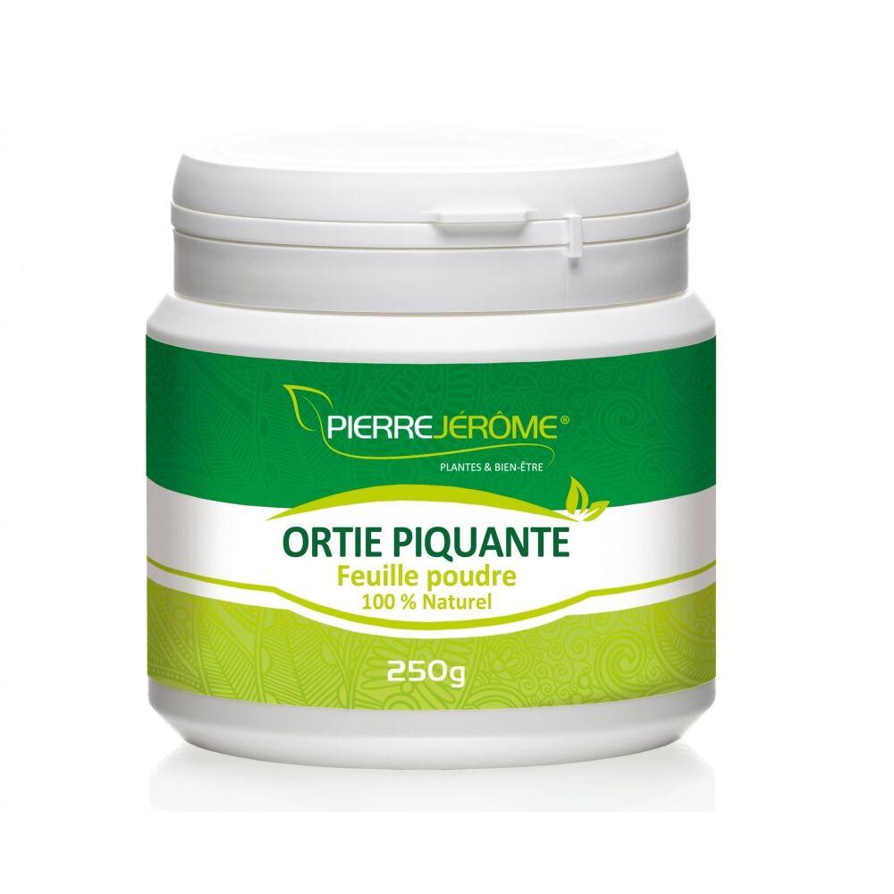 Pierre Jérôme Ortie feuille piquante en pot en poudre PEHD inviolable de 250 grammes lot de 12