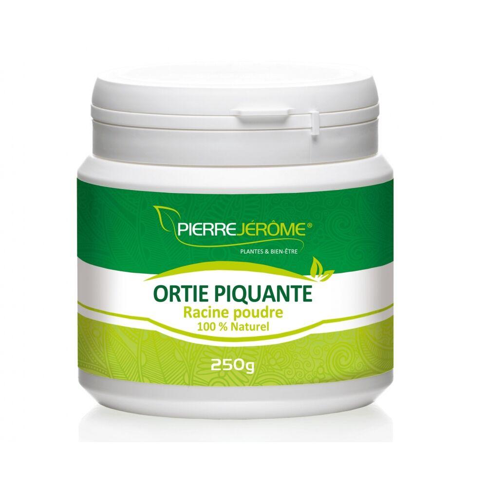 Pierre Jérôme Ortie racine piquante en pot en poudre PEHD inviolable de 250 grammes lot de 12