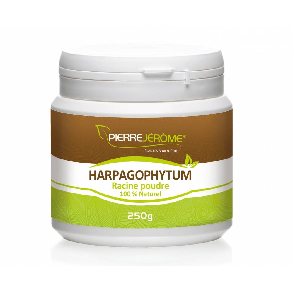 Pierre Jérôme Harpagophytum en poudre en pot PEHD inviolable de 250 grammes lot de 6