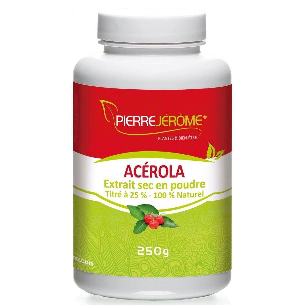 Pierre Jérôme Acérola en poudre en pot PEHD inviolable de 250 grammes le lot de 2