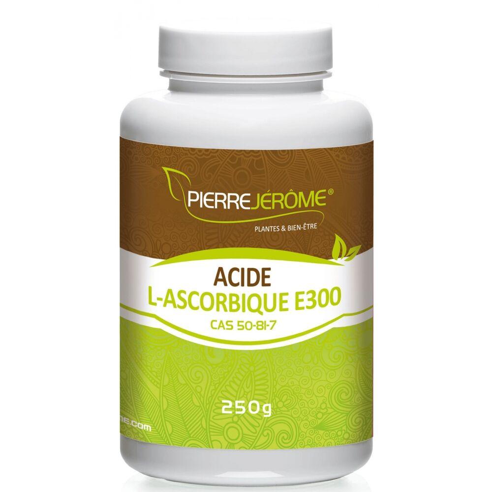 Pierre Jérôme Acide L-Ascorbique en poudre en pot PEHD inviolable de 250 grammes lot de 6