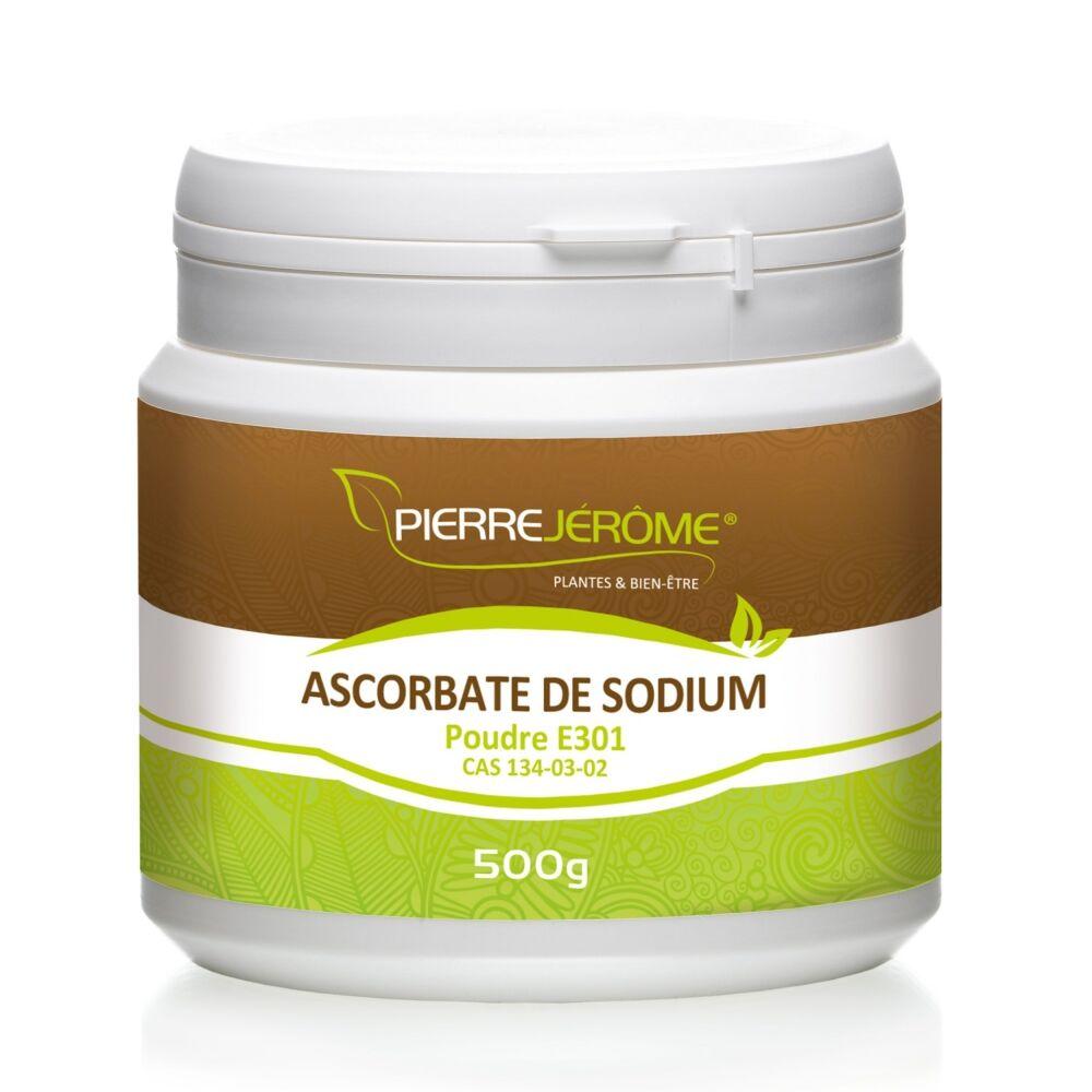 Pierre Jérôme Ascorbate de Sodium en pot en poudre PEHD inviolable de 500g le lot de 4