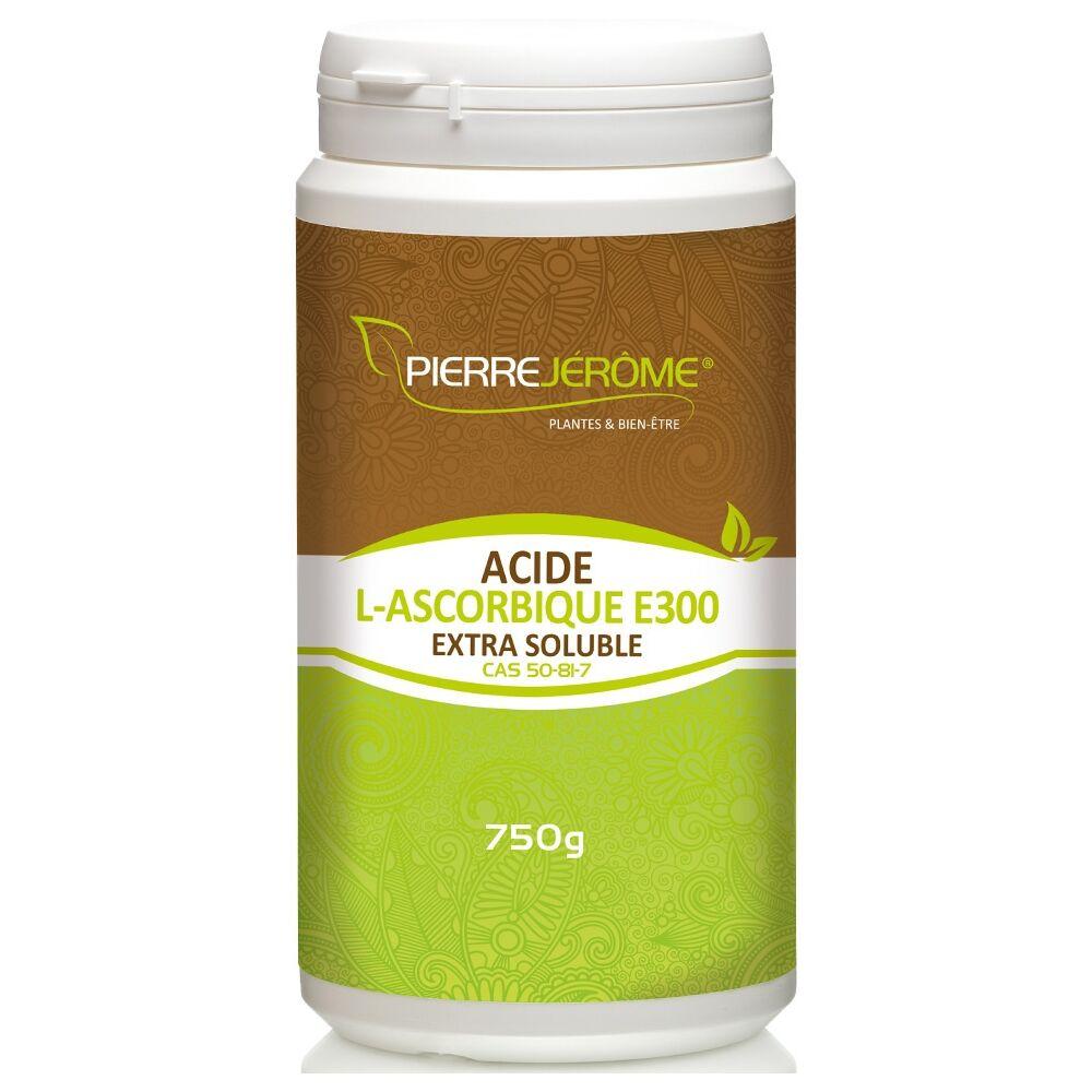Pierre Jérôme Acide L-Ascorbique Extra Soluble en poudre en pot PEHD inviolable de 750g lot de 12