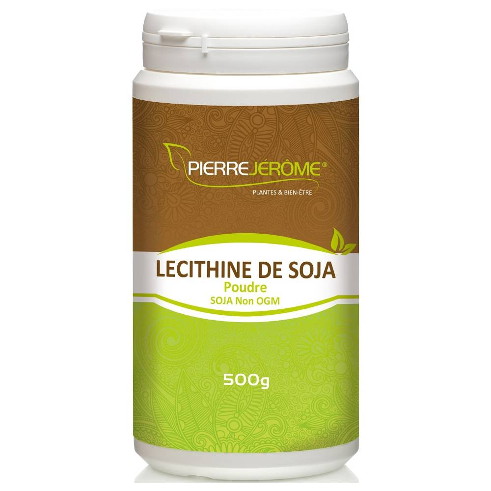Pierre Jérôme Lécithine de soja en poudre en pot PEHD inviolable de 500 grammes lot de 12