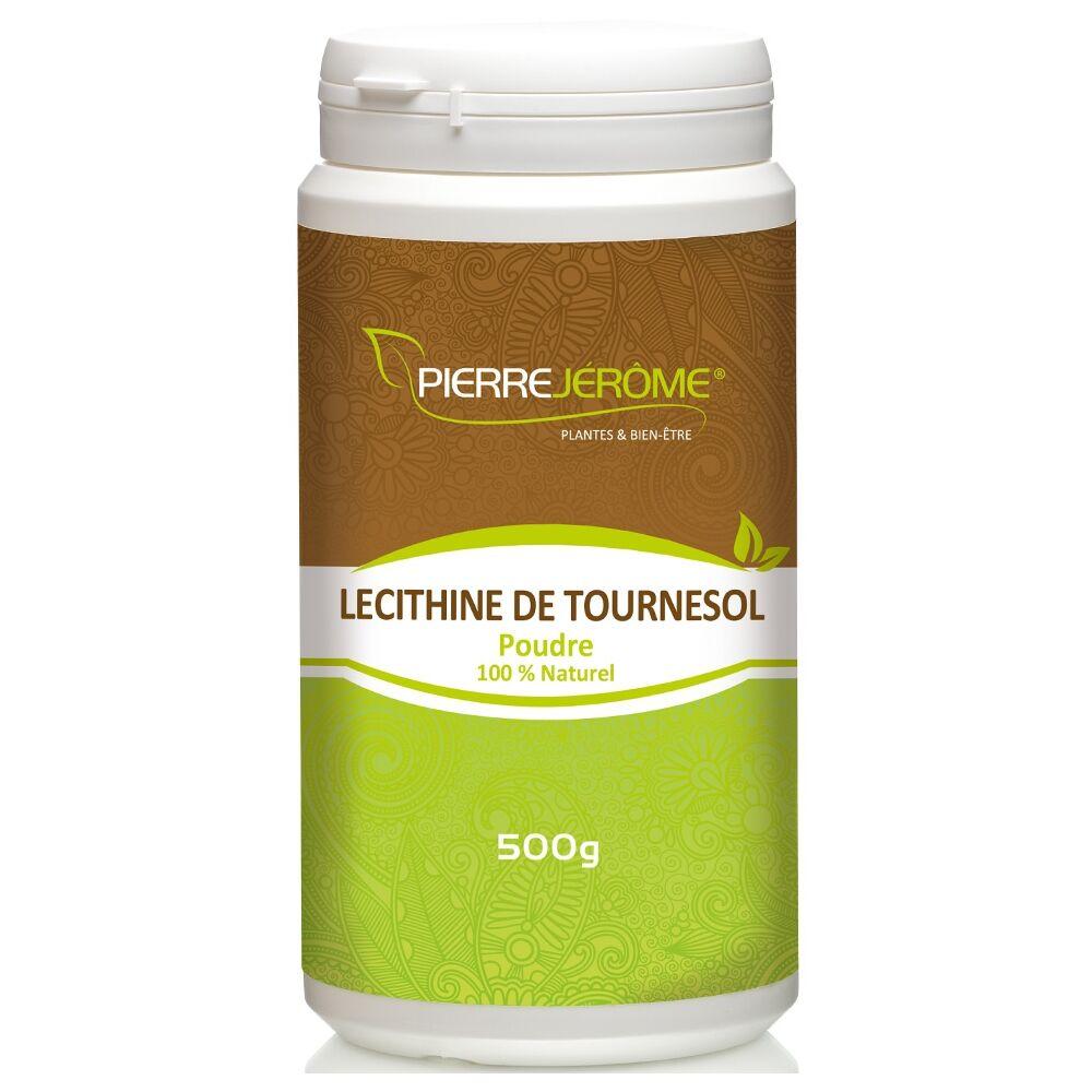 Pierre Jérôme Lécithine de tournesol en poudre en pot PEHD inviolable de 500 grammes lot de 8