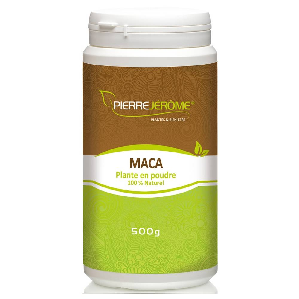 Pierre Jérôme MACA  en poudre en pot PEHD inviolable de 500 grammes lot de 4