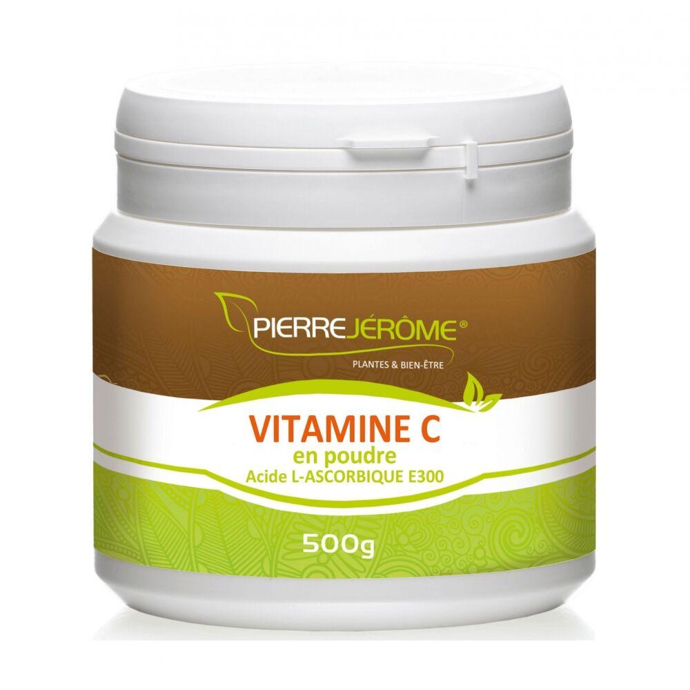 Pierre Jérôme Vitamine C en poudre en pot PEHD inviolable de 500 grammes lot de 2
