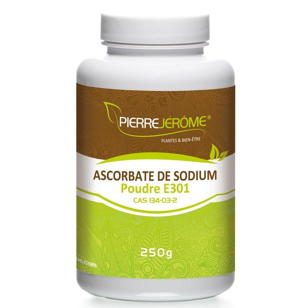 Pierre Jérôme Ascorbate de Sodium en pot en poudre PEHD inviolable de 250g lot de 12