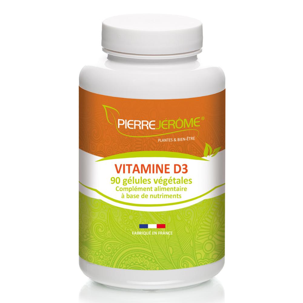 Pierre Jérôme Vitamine D3 - 90 gélules végétales lot de 4