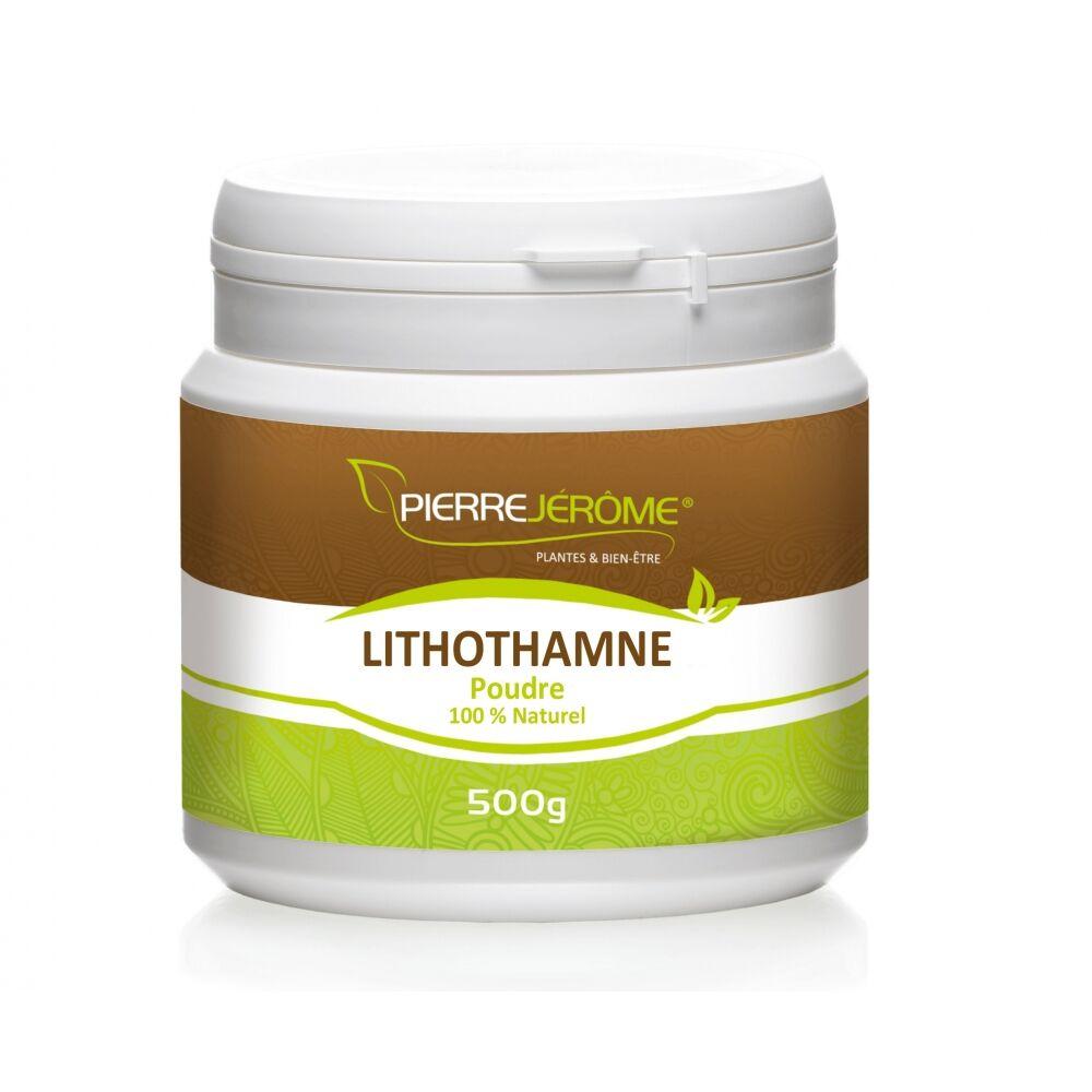Pierre Jérôme Lithothamne en poudre en pot PEHD inviolable de 500 grammes lot de 24