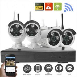 Grantek Kit VidéoSurveillance IP WiFi Extérieur 4 Caméras + Enregistreur NVR - Publicité