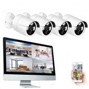 Grantek Kit Vidéosurveillance WiFi Sans fil NVR Ecran 16 + 4 Caméras - Publicité