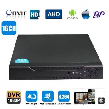 Grantek Enregistreur Numérique DVR 16 canaux pour VidéoSurveillance