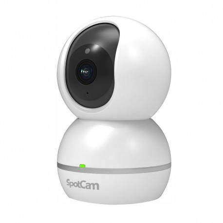 Spotcam Caméra WiFi Motorisée Infrarouge Son Bi-canal Sirène Stockage Cloud Spotcam Eva 2