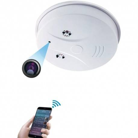 Grantek Caméra Espion WiFi HD dans Faux Détecteur de Fumée