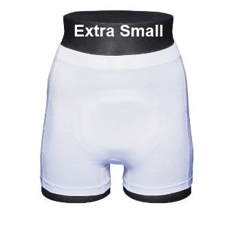 ABENA Abri-Fix Soft Coton Extra Small - Sous-vêtement de fixation blanc avec jambes