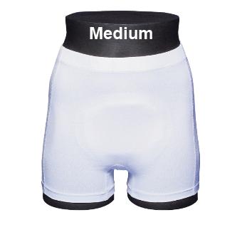 ABENA Abri-Fix Soft Coton Medium - Sous-vêtement de fixation bleu avec jambes